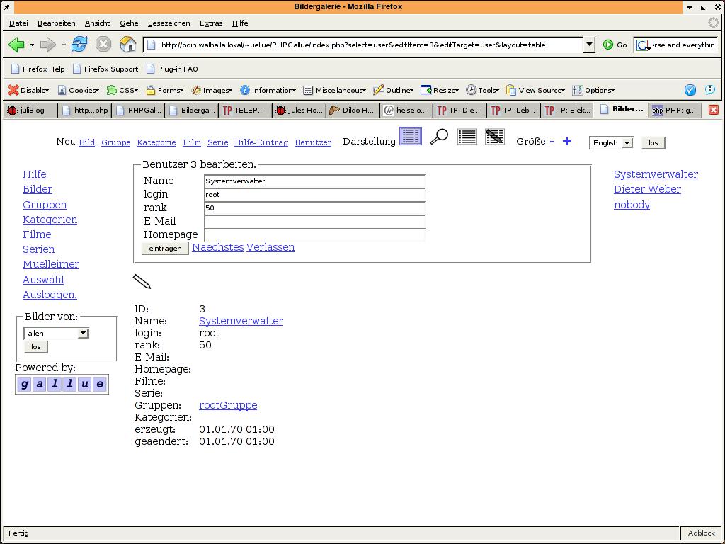 Benutzerverwaltung - Details