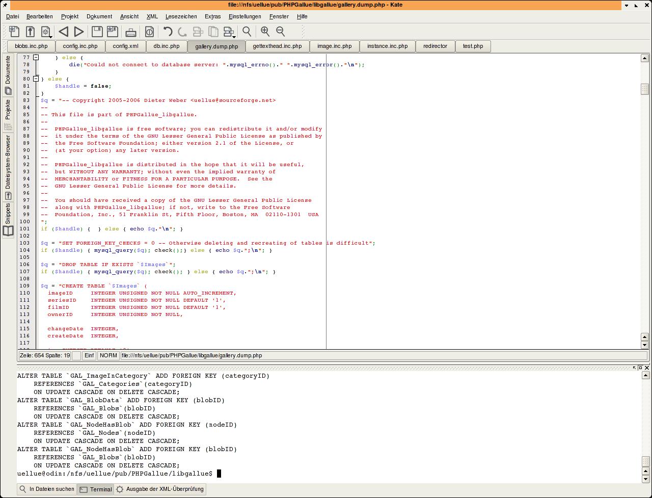 Vorbereitung für's Installationsskript