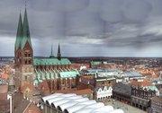 Panorama der Marienkirche in Lübeck