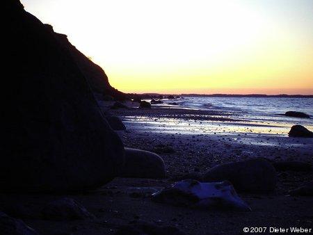Abenddämmerung am Strand bei Dänisch-Nienhof