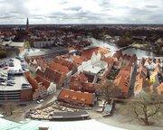 Panorama der Aussicht von St. Petri in Lübeck nach Südwesten
