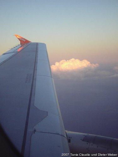 Abendstimmung über den Wolken