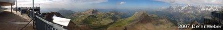 Panorama vom Gipfel des Schilthorns